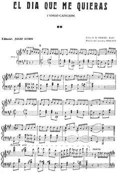 El día que me quieras [b]. Tango Flute Sheet Music, Violin Sheet, Piano Music, Playing Piano, Music Score, Easy Piano, Guitar Songs, Music Therapy, Music Education