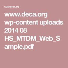 www.deca.org wp-content uploads 2014 08 HS_MTDM_Web_Sample.pdf