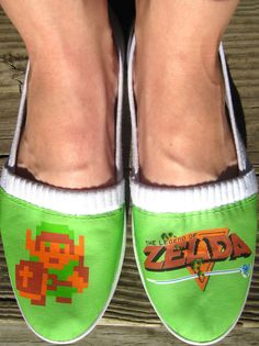 Geek girl #8bits #Zelda shoes #Nintendo