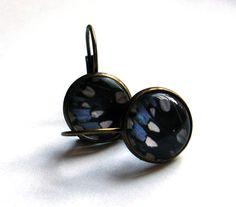 Blue Morpho Butterfly Wing Macro Photography Earrings  GORGEOUS!  $15.00