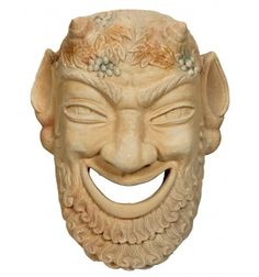 Pan sculptured mask made by plaster moldano Mask Making, Buddha, Lion Sculpture, Statue, Art, Art Background, Kunst, Performing Arts, Sculptures
