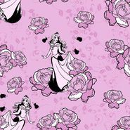 Disney Sleeping Beauty Rose Cotton Fabric