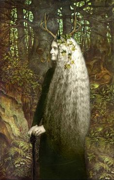 The Witch Within - novel - Talitha's grandmother, the crone living in the wild