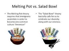American Culture Melting Pot salad bowl melt...