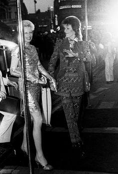 'David Bowie and his wife Angela Barnett, London 1973'