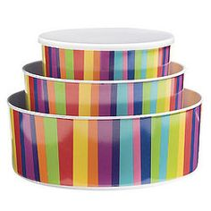 Striped Melamine Bowls #kitchen