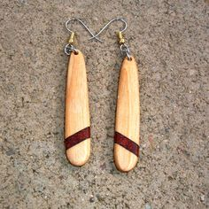 4d4bcc8c1 Items similar to Wood earrings of poplar, rosewood and wenge, very  lightweight..L012 on Etsy