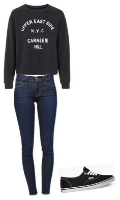 """""""Untitled #1"""" by snf02 ❤ liked on Polyvore featuring Topshop, Frame Denim and Vans"""
