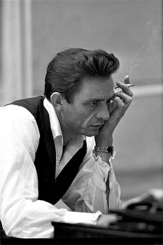 Johnny Cash photographed by Don Hunstein, 1965.