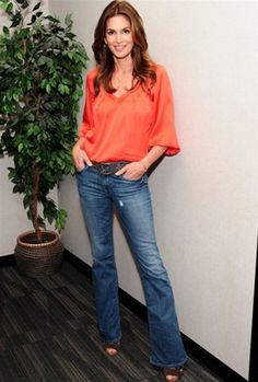 Black Orchid Black Beauty High Rise Flare in Sunrise - As seen on the fabulous Cindy Crawford.