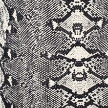 MOOD Black/Cream Reptilian Stretch Cotton Twill Product #: 111285 $15.99/ Yard