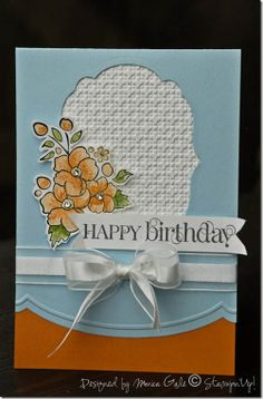 pretty birthday card with Bordering on Romance