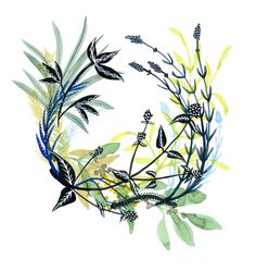 Healing Wreaths - katie vernon art + illustration {color palette}