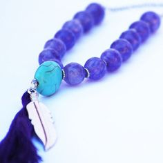 Amethyste necklace and turquoise by indilly