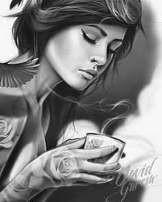 """Coffe time"" David Garcia #tattoo #sketch"