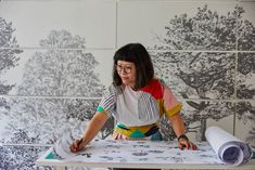 Etsy Design Awards London makers and creatives awarded top prizes at first global 'Etsies' competition pinned from November 18 2019 at Wallpapering Tips, Dinosaur Wallpaper, Magnetic Paint, Classic Wallpaper, Garden Design Plans, Dinosaur Pattern, Latest Design Trends, Red Interiors, Etsy Uk