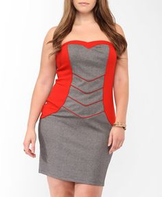 Colorblock Panel Bodycon Dress | FOREVER21 PLUS