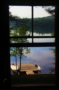 SEASONAL – SUMMER – the lake view in maine, photo via marie.