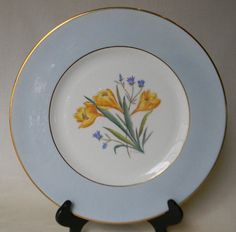 George Jones Crescent Potteries Antique English Transferware Charger Plate ~ Crocus by EnglishTransferware, $74.99