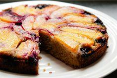 NECTARINE, BLUEBERRY AND BUCKWHEAT CAKE {GLUTEN FREE}
