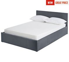 Buy Hygena Lavendon Double Fabric Ottoman Bed Frame - Grey at Argos.co.uk - Your Online Shop for Bed frames, Beds, Bedroom furniture, Home and garden.