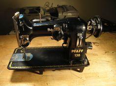 I use an identical wonderful 1940's cast iron German Pfaff sewing machine. Industrial. Absolute LOVE.