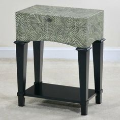 Myriad Trunk Side Table - Carved Fern Design by Ultimate Accents. $289.99. Measures 27.25W x 14D x 22H inches. Finished in a sleek black. Felt-lined interior protects stored items. Crafted of quality cedar. Trunk features attractive carved fern design. Sometimes the smallest items make the biggest difference when it comes to home decor, and the Myriad Trunk Side Table - Carved Fern Design is a sophisticated example of this philosophy. Crafted of quality cedar w...