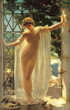John Reinhard Weguelin (1849 – 1927,English) - Lesbia