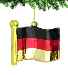 """Germany Flag Glass Ornament     Celebrate your German heritage with our Glass Flag Ornaments. Delicately beautiful, this German ornament is sure to add a festive touch to your home.      Each German Flag Glass Ornament is styled in the tradition of European blown glass.  Measures 4""""L x 4.25""""W x 1""""H  http://www.nycwebstore.com/detail.aspx?PRODUCT_ID=KA-C4523"""