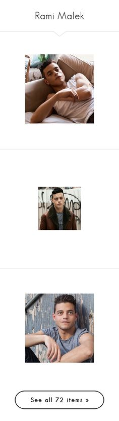 """""""Rami Malek"""" by imawkwardhey ❤ liked on Polyvore featuring rami malek, mr. robot, mr robot and people"""
