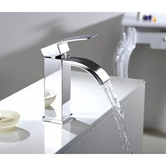 Single Handle Waterfall Bathroom Vanity Sink Vessel Faucet with Extra Large Rectangular Spout Lavatory Mixer Tap Chrome http://www.tapso.co.uk/single-handle-waterfall-bathroom-vanity-sink-vessel-faucet-with-extra-large-rectangular-spout-lavatory-mixer-tap-chrome-p-805.html