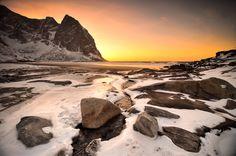 Kvalvika Beach, Lofoten Islands