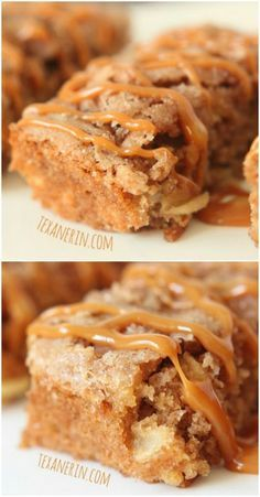 These apple cake bars are super moist and full of cinnamon apple goodness! #wholegrain #wholewheat