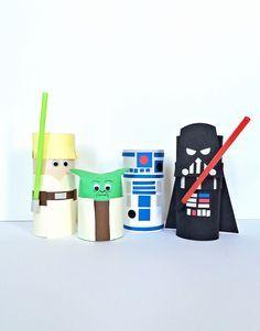 Magnifiques ces personnages STAR WARS, fait avec des rouleaux de papier toilette