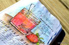 Dion Dior & More...: Strawberry Jam & Watercolor Pencils