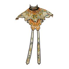 Chinese Cloud Collar with silk and metallic embroidery featuring the moth Stephane Rolland, Vintage Outfits, Vintage Fashion, Vintage Bags, Vintage Clothing, Rick Owens, Chinese Embroidery, Hanfu, Cheongsam