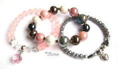 "Bracelet set ""Rose"" by TOSZKA on Etsy"