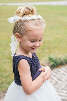Angelic #Flowergirl with Floral Wreath I Priscilla Thomas Photography