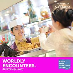 Norwegian Getaway's crew is made up of more than 64 nationalities! Repin if you're psyched about making some awesome new friends on your #UltimateGetaway!