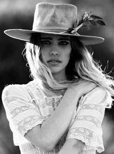 9d8f752c Chelsea Tyler for Lone Hawk Hats wearing Honeywood Vintage Hat Making,  Chelsea Tyler, Give