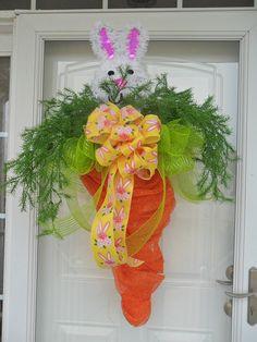 Deco Mesh Easter Carrot