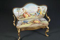 Antique Viennese Enamel Miniature Louis XV Salon by megsantiques, $499.00