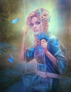forget me not - Digital Art by Perla Marina  <3 <3
