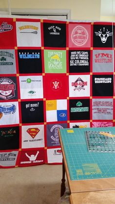 T-shirt quilt ready to make backing and then begin the quilting process. Deep Run, Get Moving, Shirt Quilt, Quilting, It Is Finished, How To Make, Photos, Scraps Quilt, Pictures