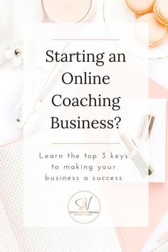 Are you starting an online coaching business? Watch this video to learn the top 3 keys to making your business a success. Business Advice, Start Up Business, Online Business, Business Coaching, Legal Business, Insurance Business, Business Writing, Leadership Coaching, Business Journal