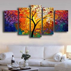 Large Arts Hand Painted Flowers Oil Paintings on Canvas Knife Pallete Floral Painting 5 Panel Wall Art Pictures Home Decoration . If You Need more ideas click picture . 3 Piece Canvas Art, Texture Painting On Canvas, Simple Oil Painting, Large Painting, Canvas Wall Art, Painted Canvas, Hand Painted, Canvas Frame, 5 Panel Wall Art