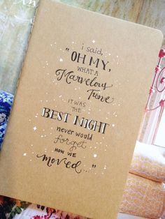 Taylor Swift 'Starlight' Moleskine Notebook by cupofjuice on Etsy, $14.00