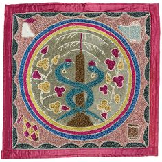 Vodou Flag or Banner, Haiti, 1980s, satin, sequins, and glass beads Collection of the Art Fund, Inc., at the Birmingham Museum of Art; Robert Cargo Folk Art Collection; Gift of Caroline Cargo