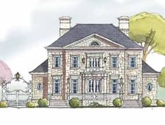An English Manor Home (HWBDO13910)   French Country House Plan from BuilderHousePlans.com