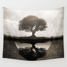 The lone Night reflex Wall Tapestry by Viviana Gonzalez. Worldwide shipping available at Society6.com. Just one of millions of high quality products available.